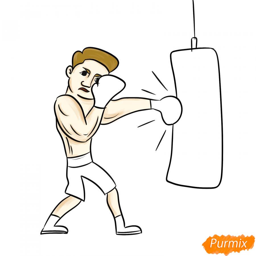 Рисуем боксера с грушей - шаг 6