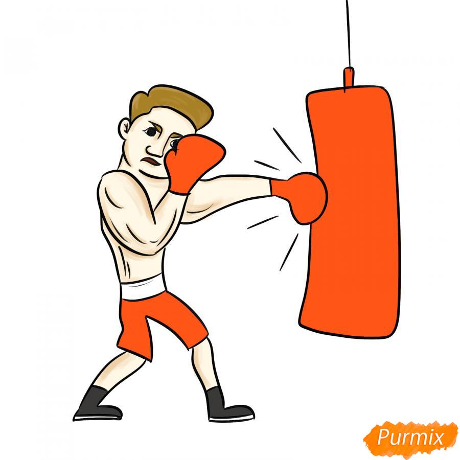 Рисуем боксера с грушей - шаг 7
