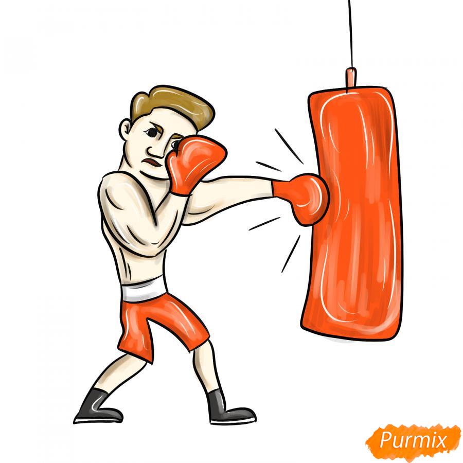 Рисуем боксера с грушей - шаг 8