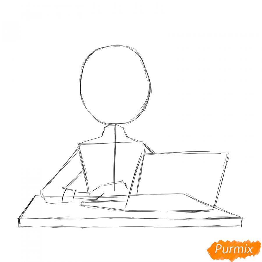 Рисуем бухгалтера - шаг 2