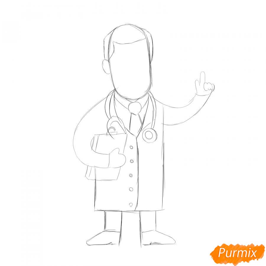 Рисуем доктора - шаг 3