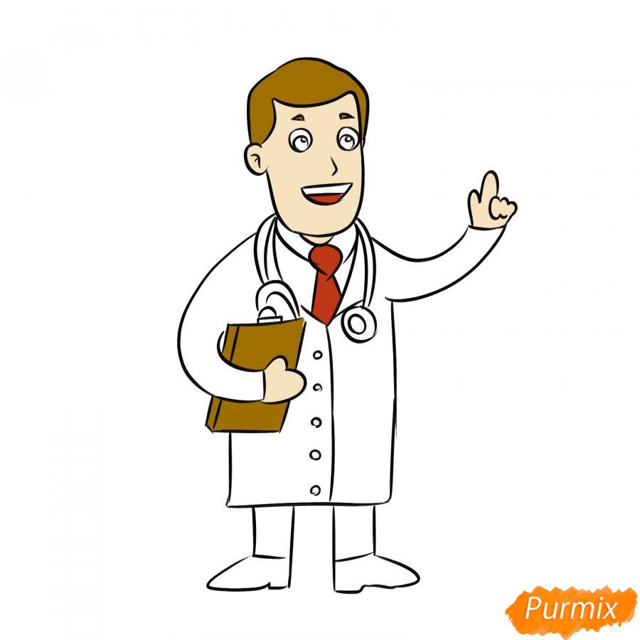 Рисуем доктора - шаг 6
