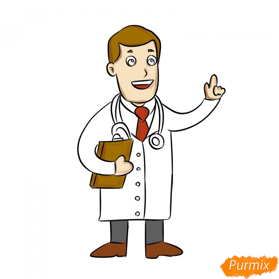 Рисуем доктора - шаг 7