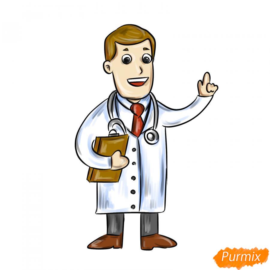 Рисуем доктора - шаг 8