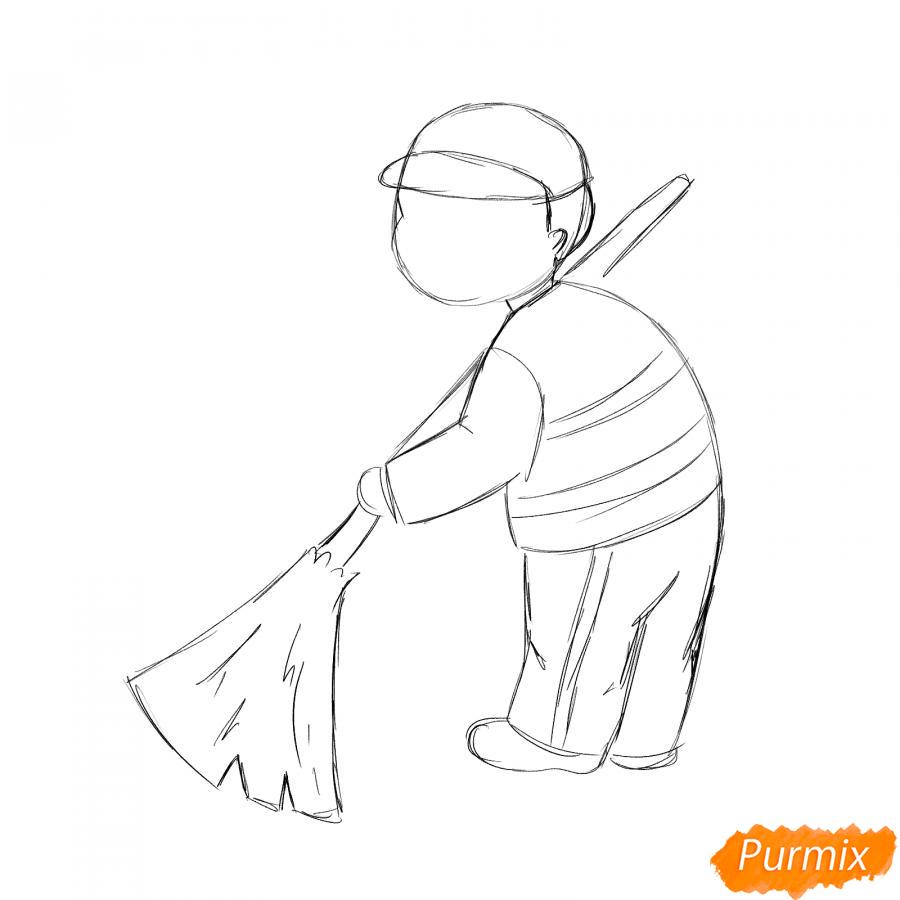 Рисуем дворника - шаг 3