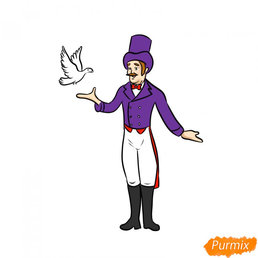 Рисуем фокусника цирка - шаг 8
