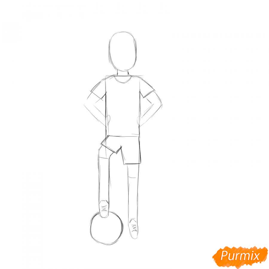 Рисуем футболиста - шаг 2