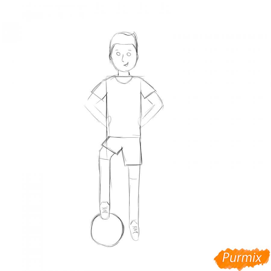 Рисуем футболиста - шаг 3