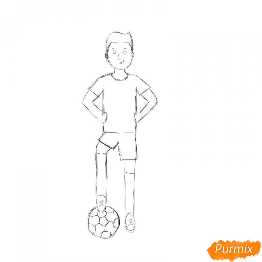 Рисуем футболиста - шаг 4