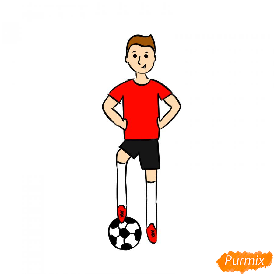 Рисуем футболиста - шаг 7