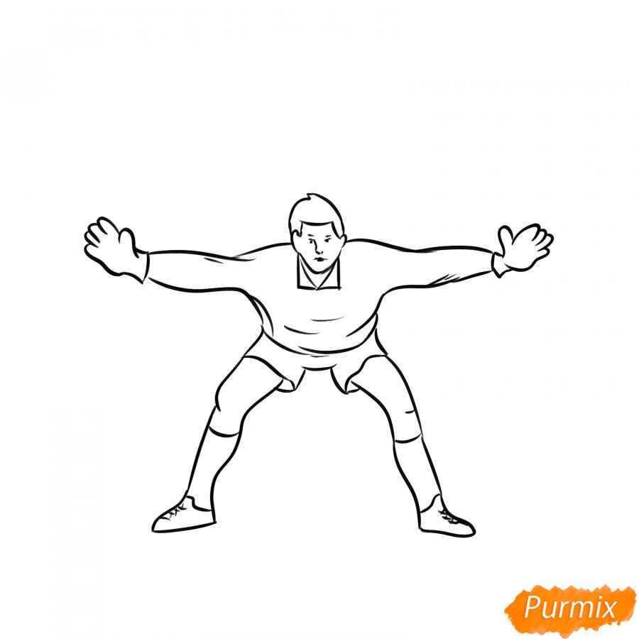 Рисуем футбольного вратаря - шаг 5