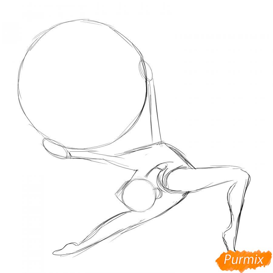 Рисуем гимнастку с обручем - шаг 3