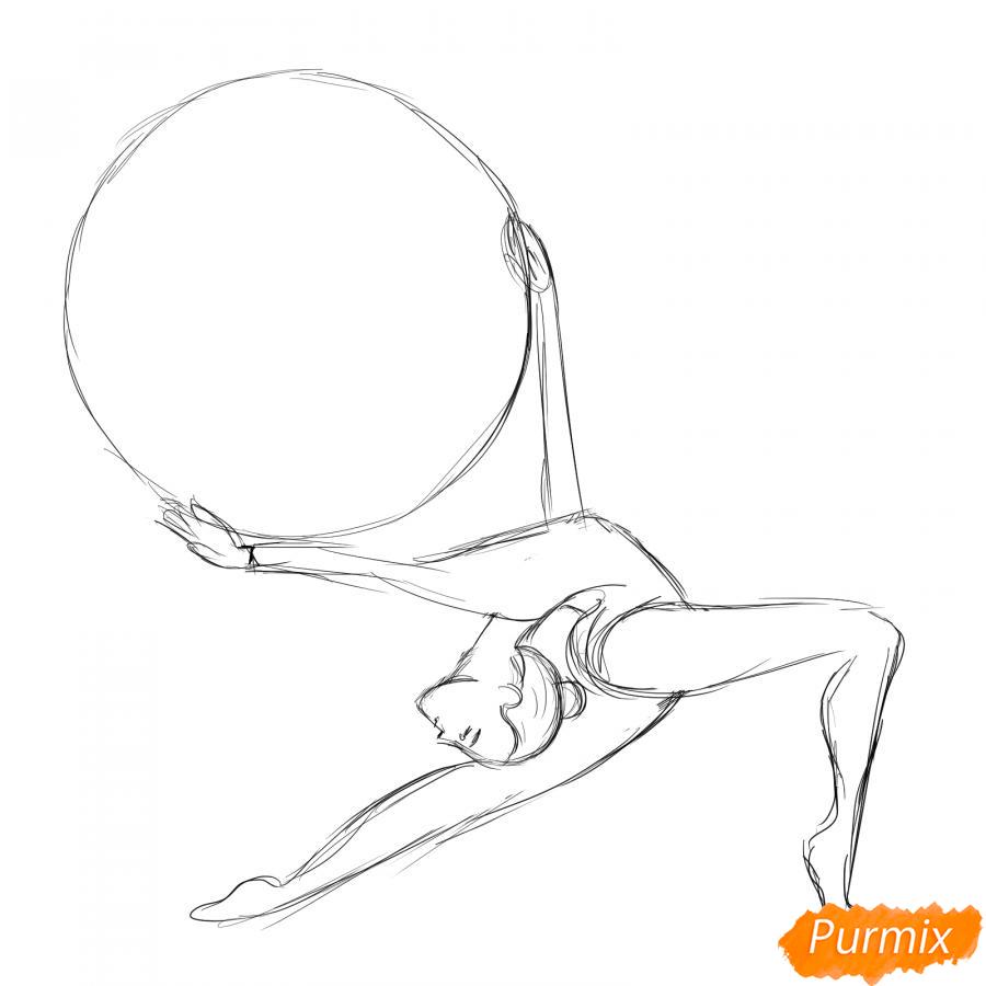 Рисуем гимнастку с обручем - шаг 4