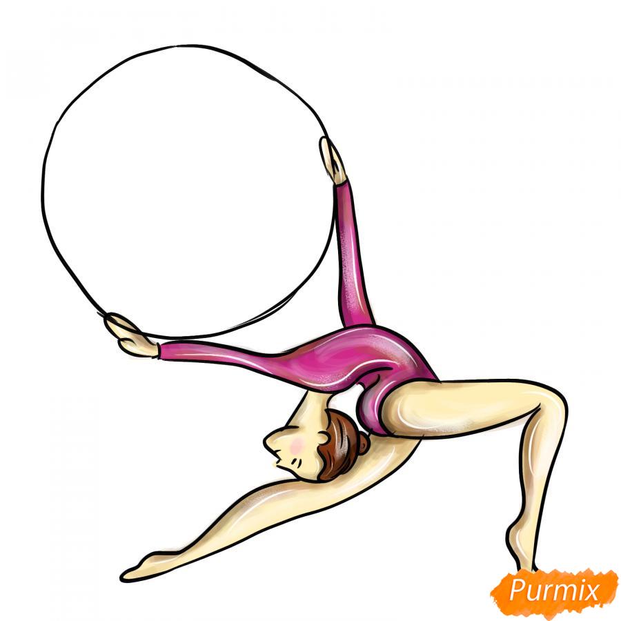 Рисуем гимнастку с обручем - шаг 8