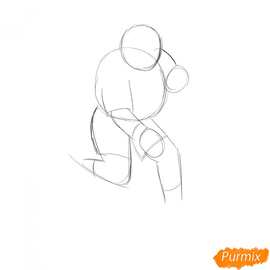 Рисуем хоккеиста - шаг 2