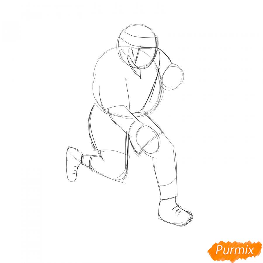 Рисуем хоккеиста - шаг 3