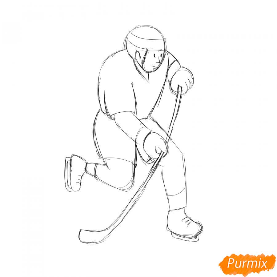 Рисуем хоккеиста - шаг 4