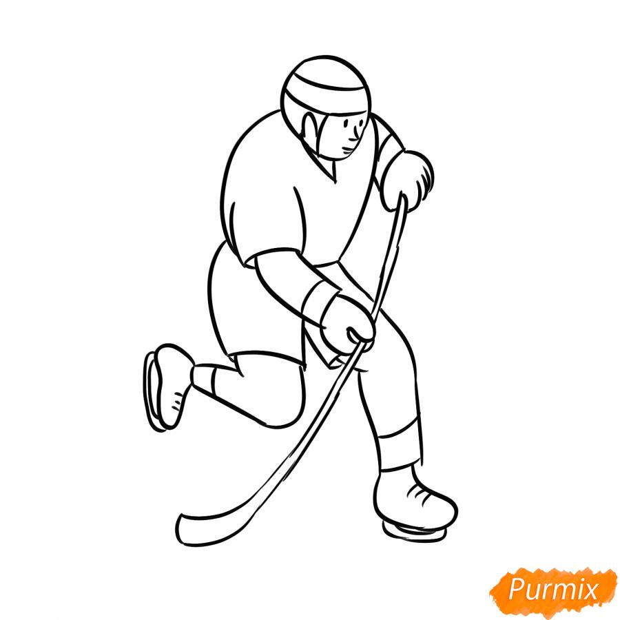 Рисуем хоккеиста - шаг 5