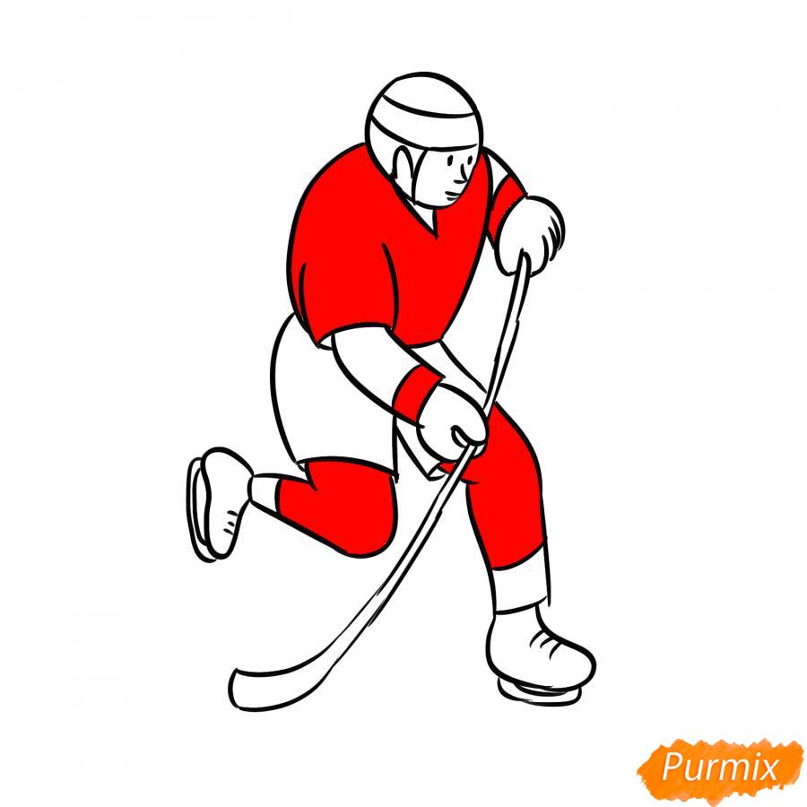 Рисуем хоккеиста - шаг 6