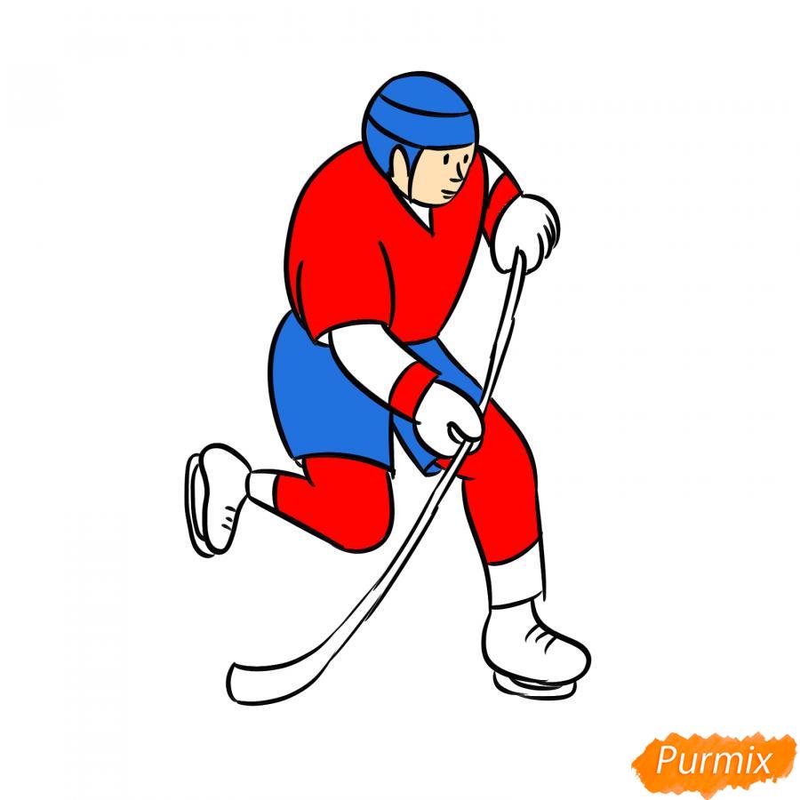 Рисуем хоккеиста - шаг 7