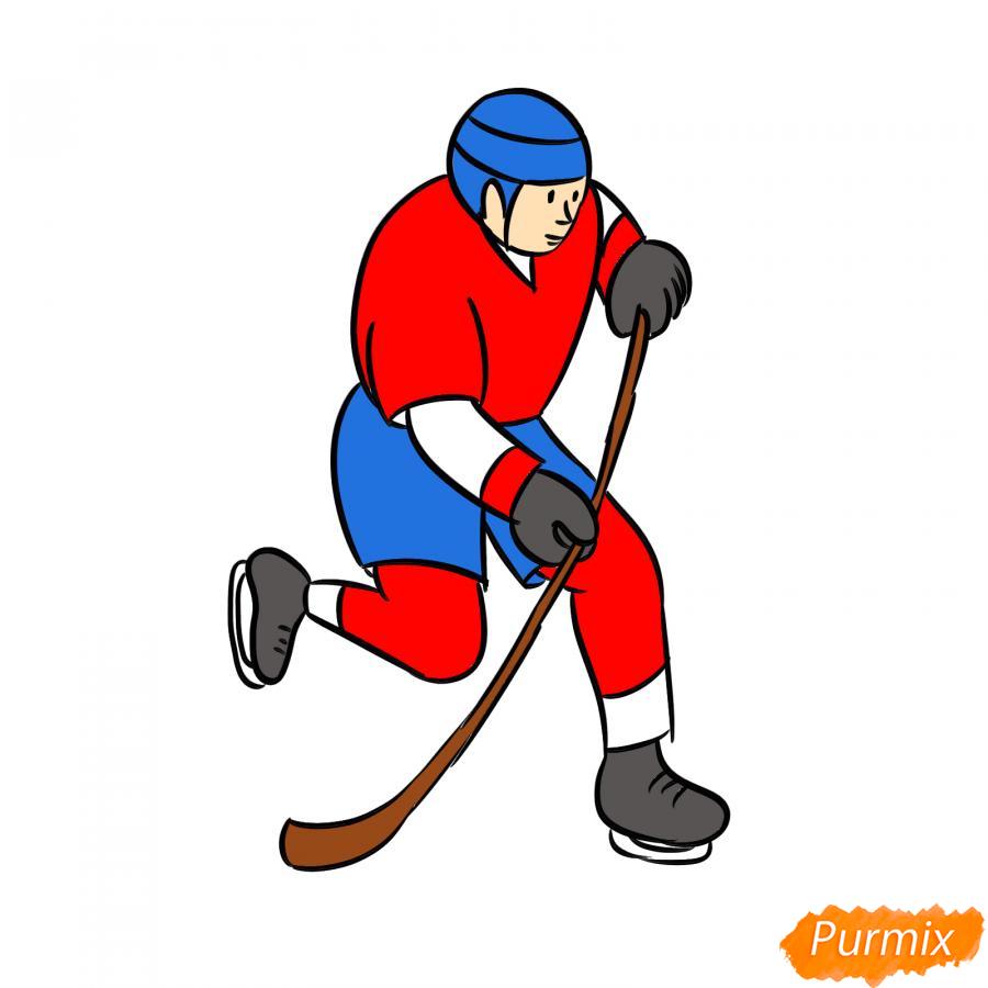Рисуем хоккеиста - шаг 8