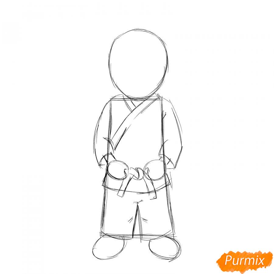 Рисуем каратистку - шаг 3