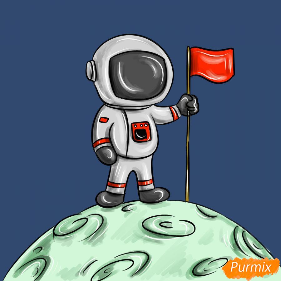 Рисуем космонавта на луне - шаг 10