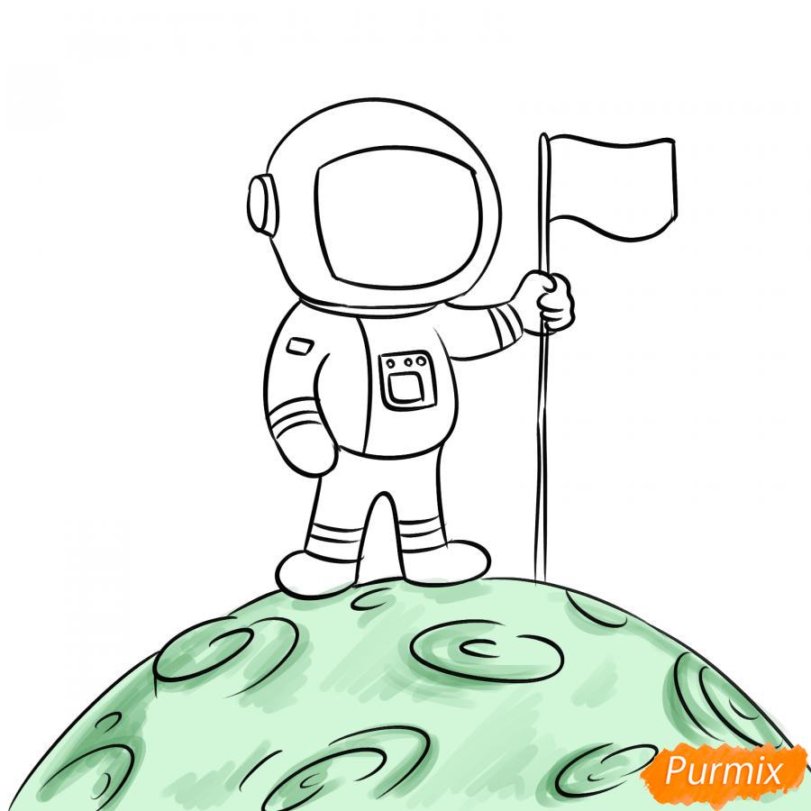 Рисуем космонавта на луне - шаг 6