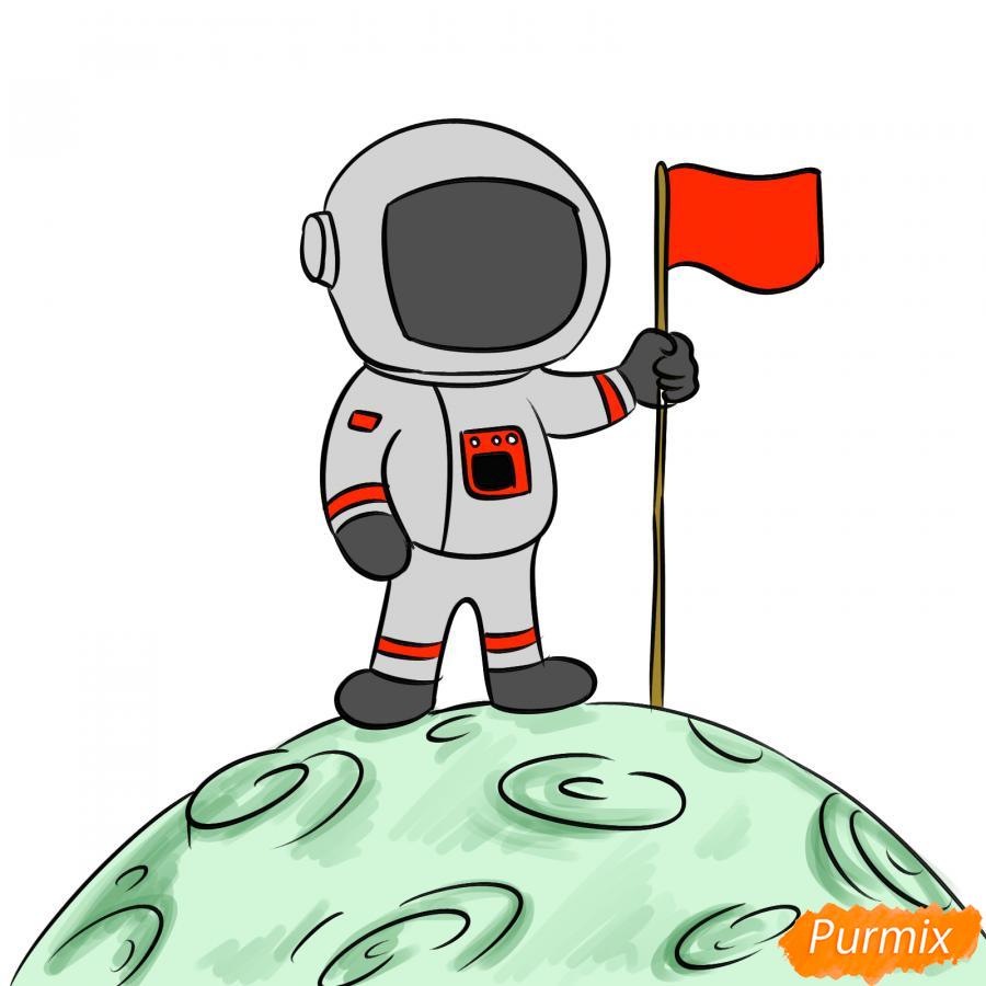 Рисуем космонавта на луне - шаг 8