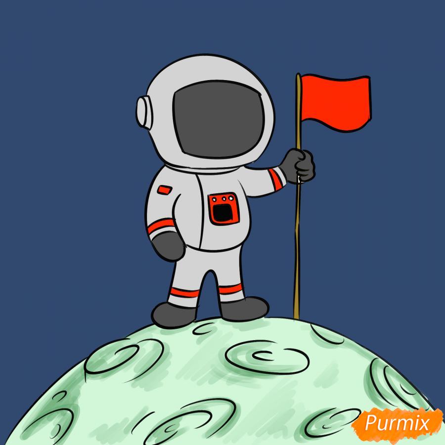 Рисуем космонавта на луне - шаг 9