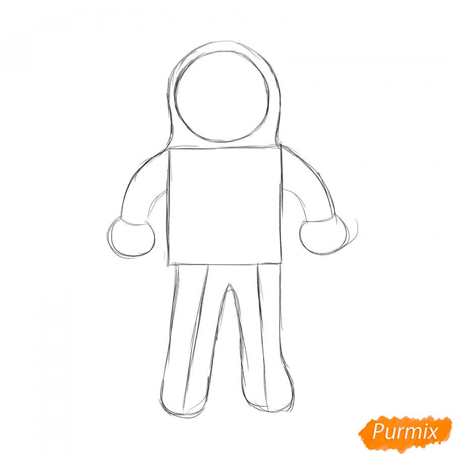 Рисуем космонавта - шаг 2