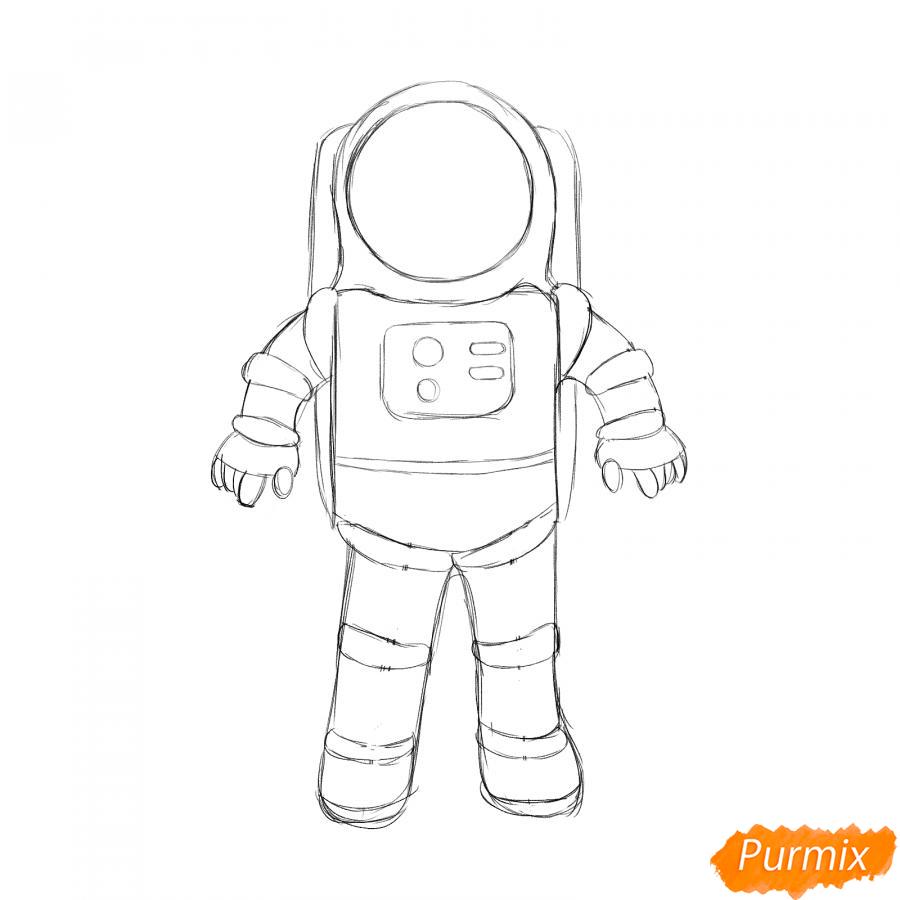 Рисуем космонавта - шаг 4