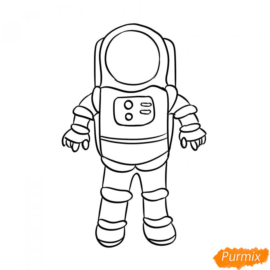Рисуем космонавта - шаг 5