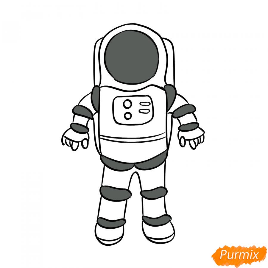 Рисуем космонавта - шаг 6