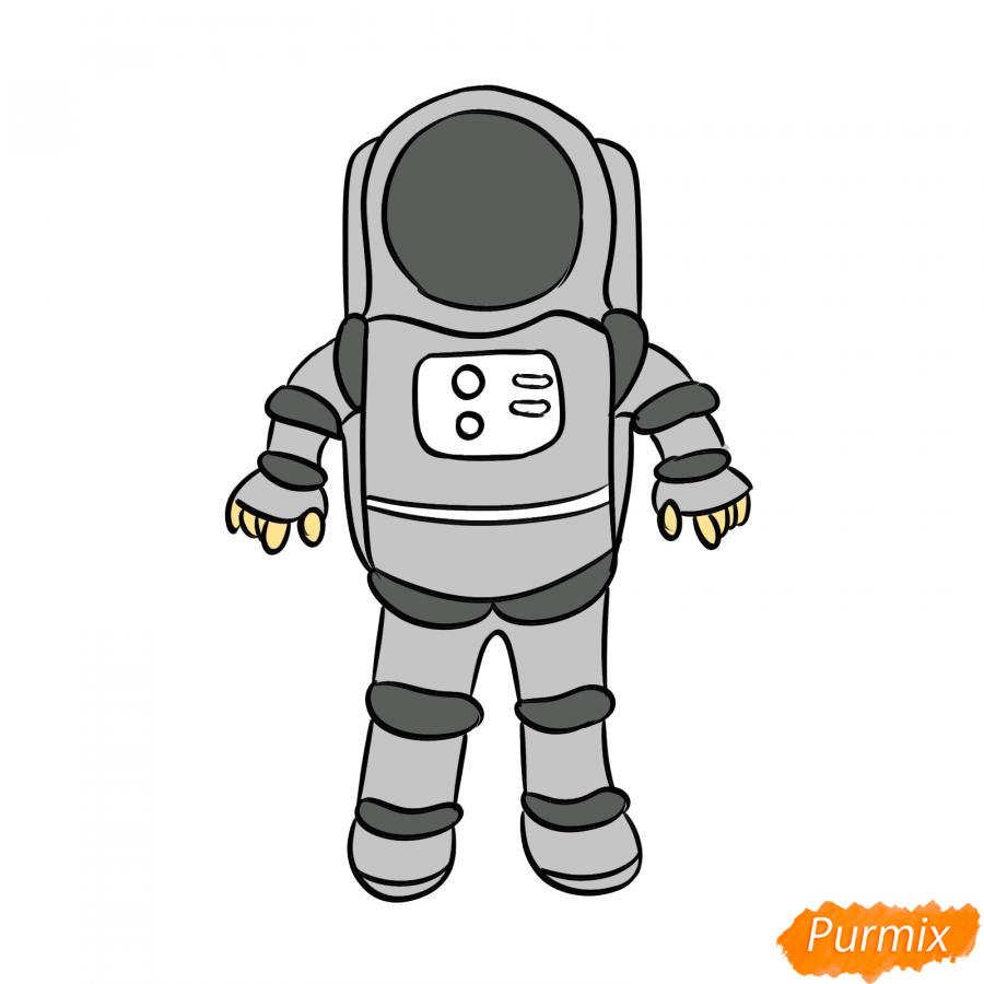 Рисуем космонавта - шаг 7