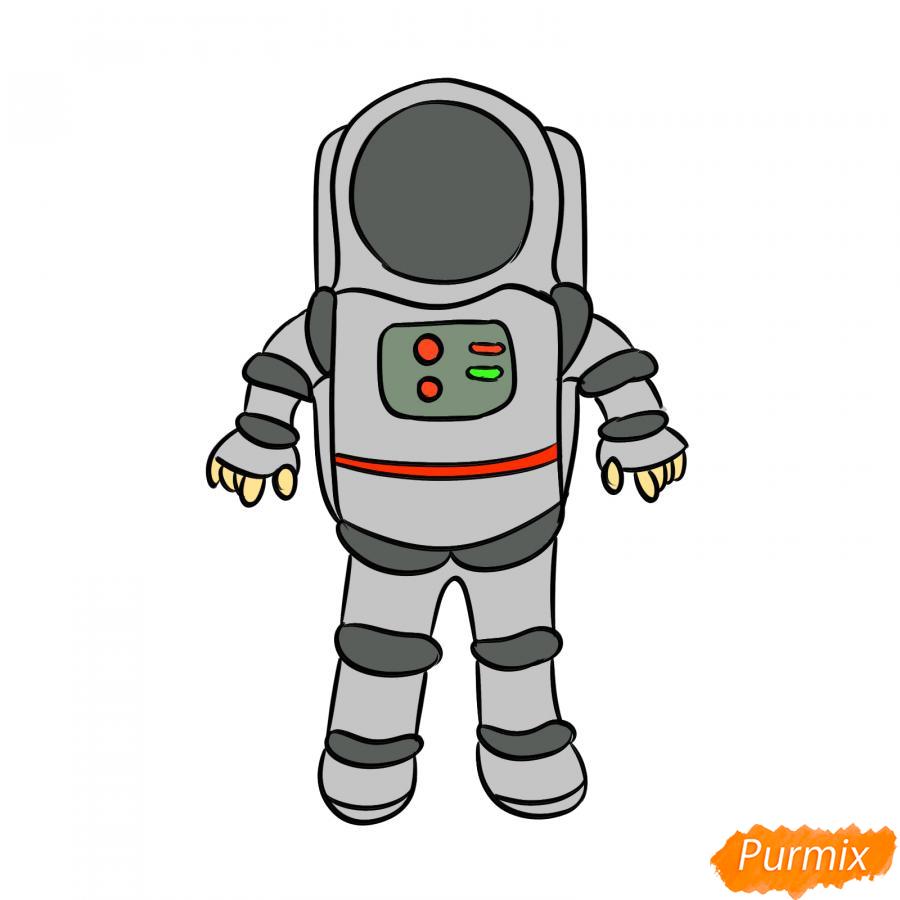 Рисуем космонавта - шаг 8