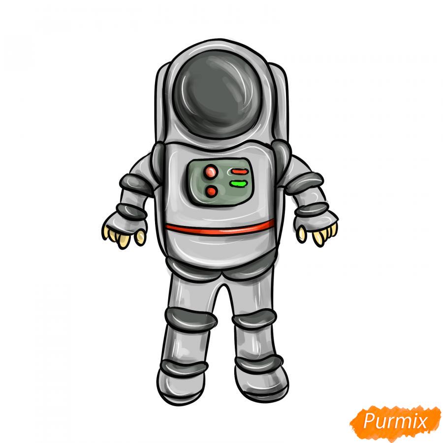 Рисуем космонавта - шаг 9