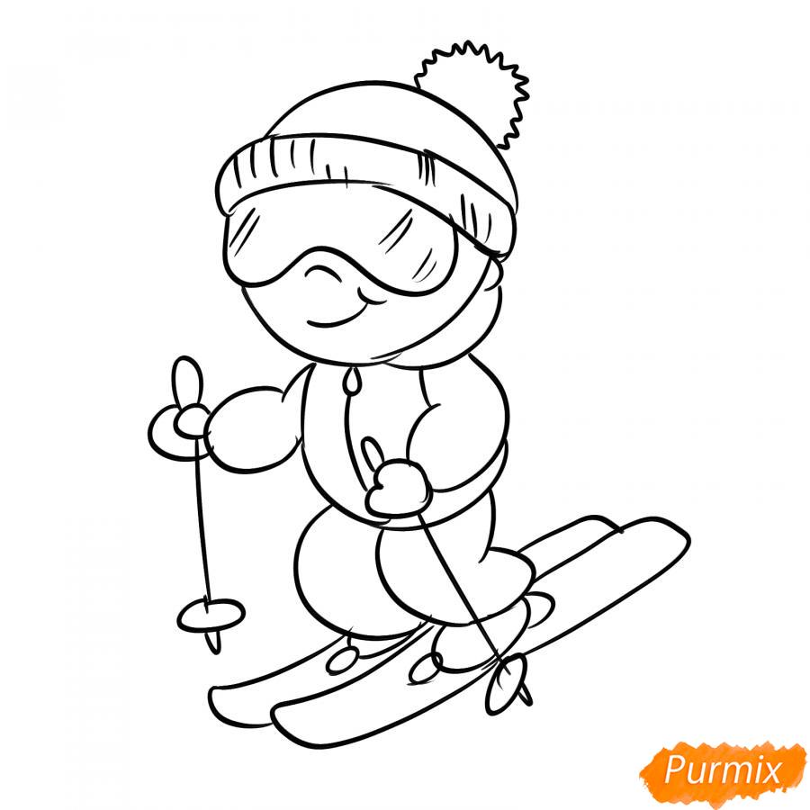 Рисуем лыжника - шаг 5