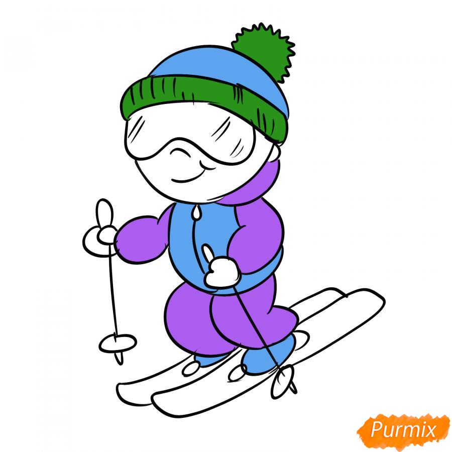 Рисуем лыжника - шаг 6