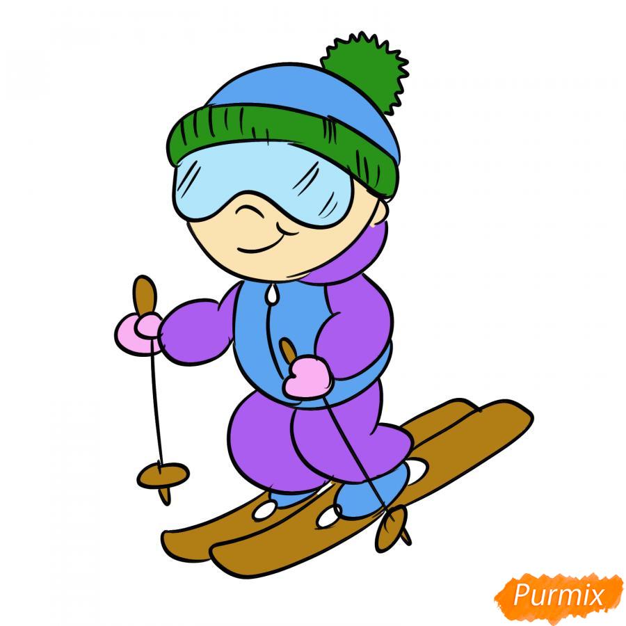 Рисуем лыжника - шаг 8