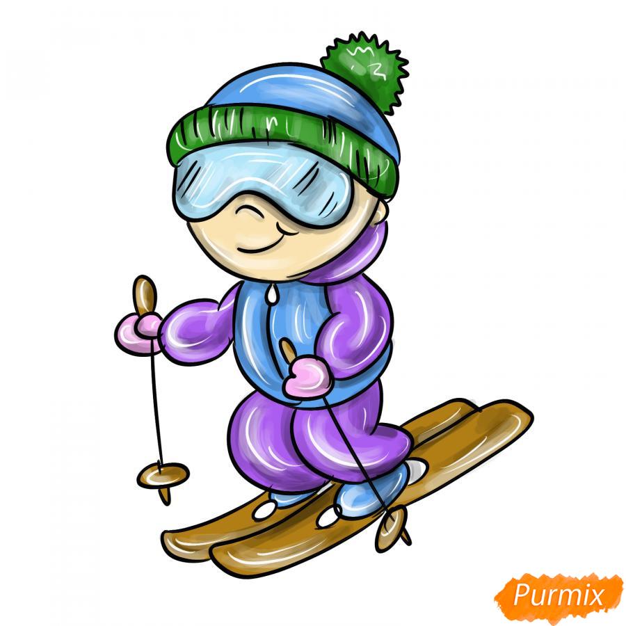 Рисуем лыжника - шаг 9