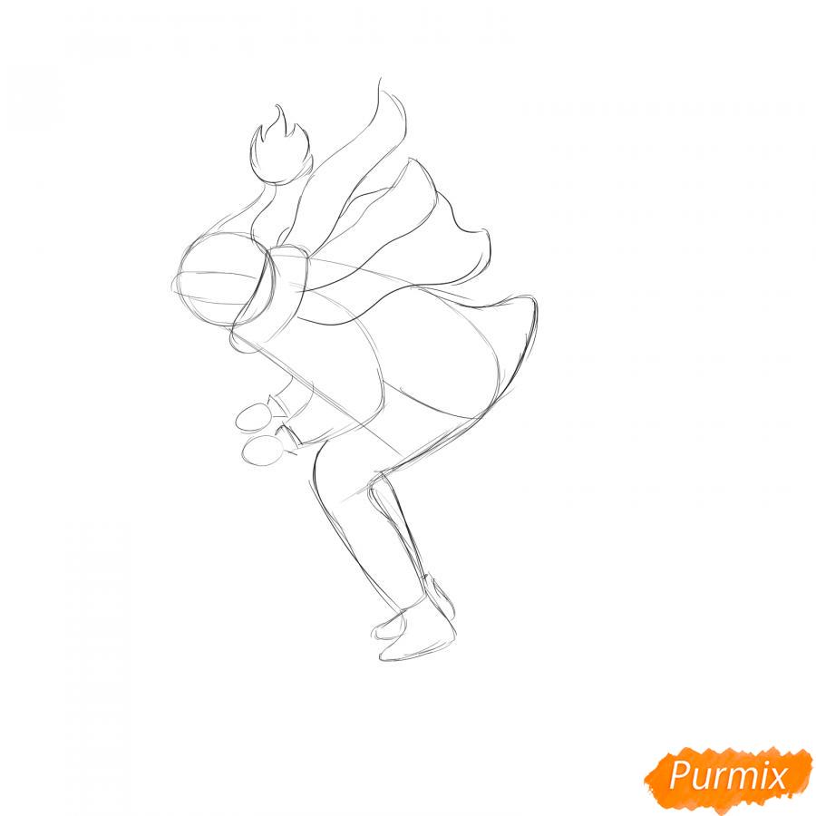 Рисуем лыжника в движении - шаг 3