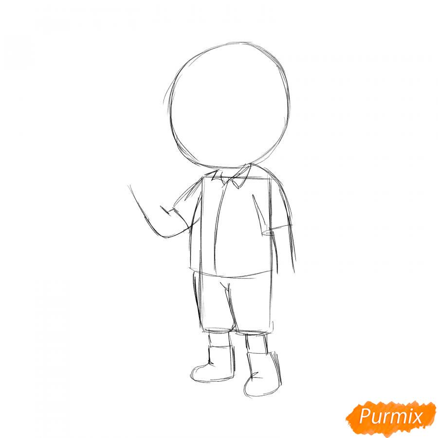 Рисуем маляра девушку - шаг 2