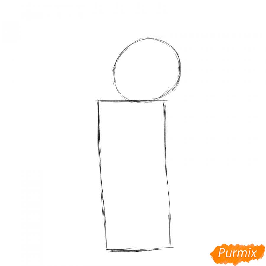 Рисуем маляра карандашами - шаг 1