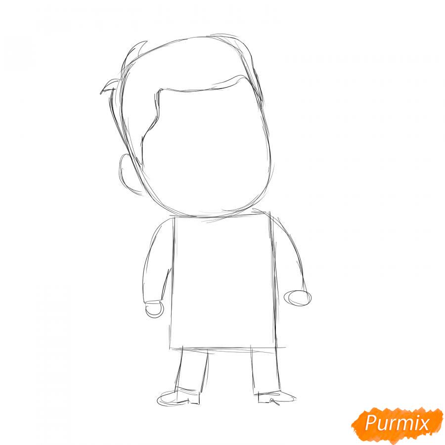 Рисуем мультяшного врача - шаг 2