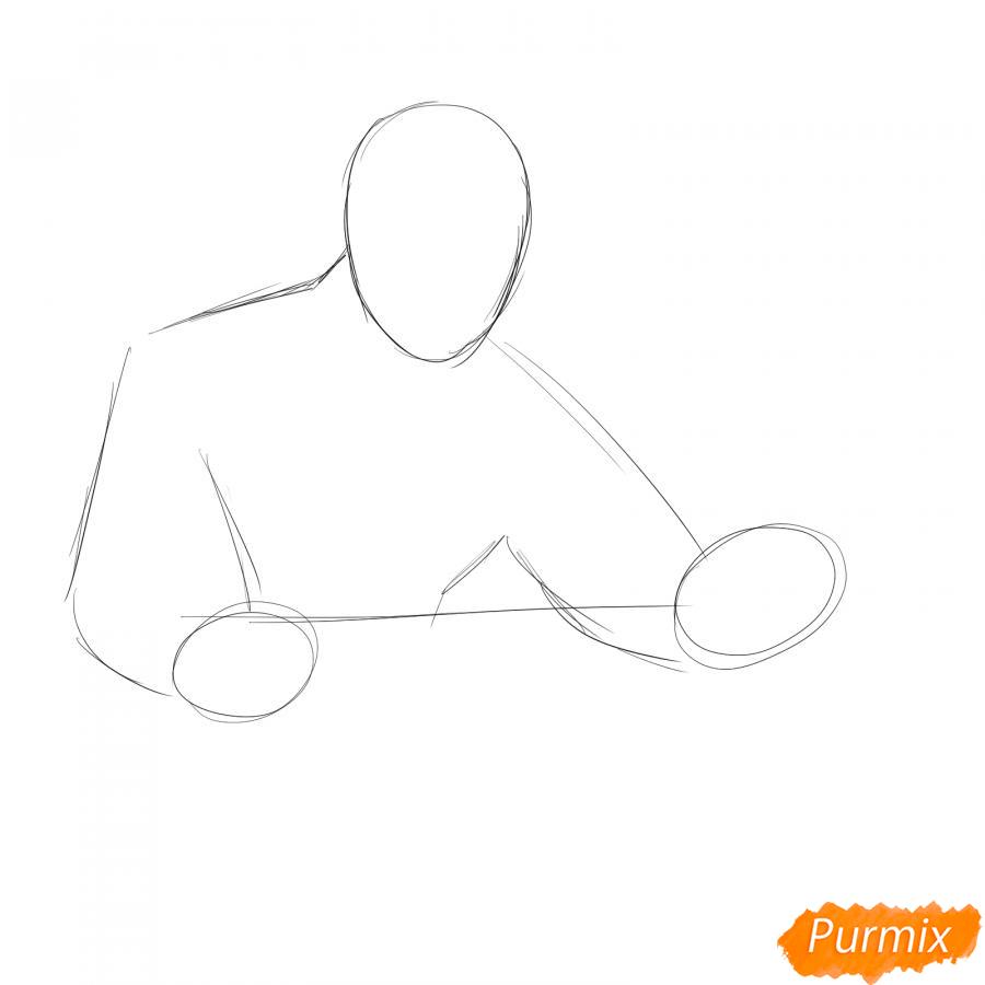 Рисуем мужчину бухгалтера - шаг 1