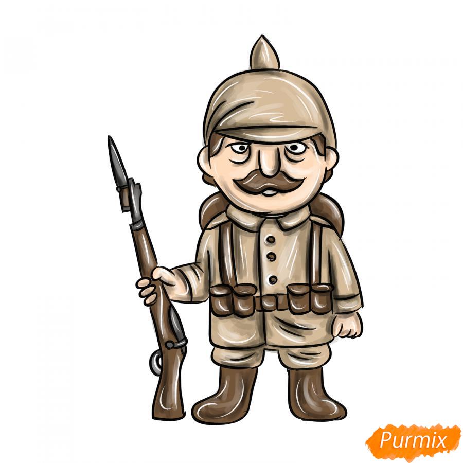 Рисуем немецкого солдата - шаг 10