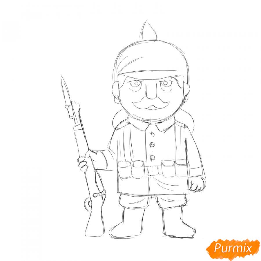 Рисуем немецкого солдата - шаг 5