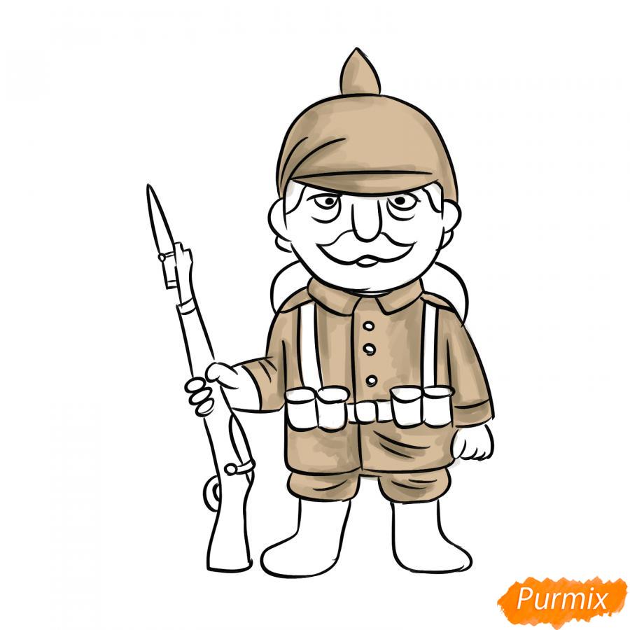 Рисуем немецкого солдата - шаг 7