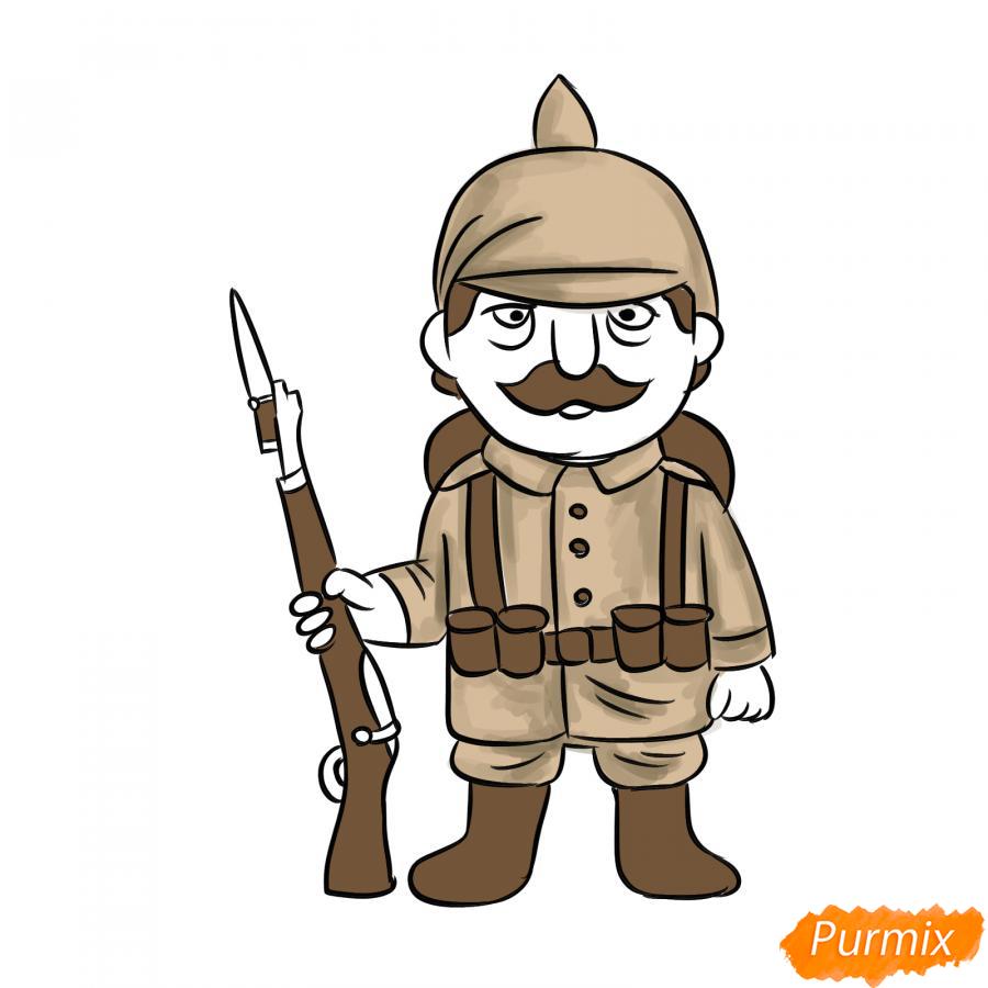 Рисуем немецкого солдата - шаг 8